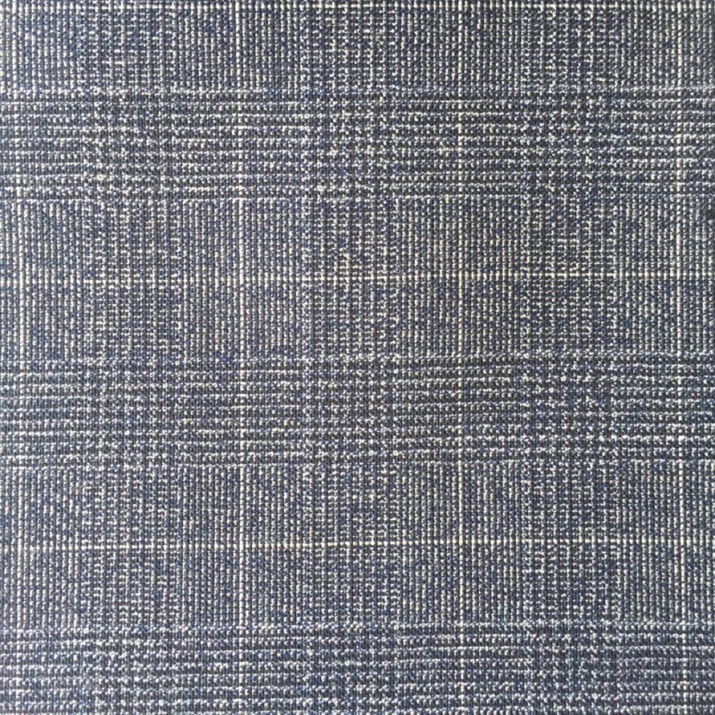 Modisches Glencheck in sommerlichen Farben, sehr knitterresistent