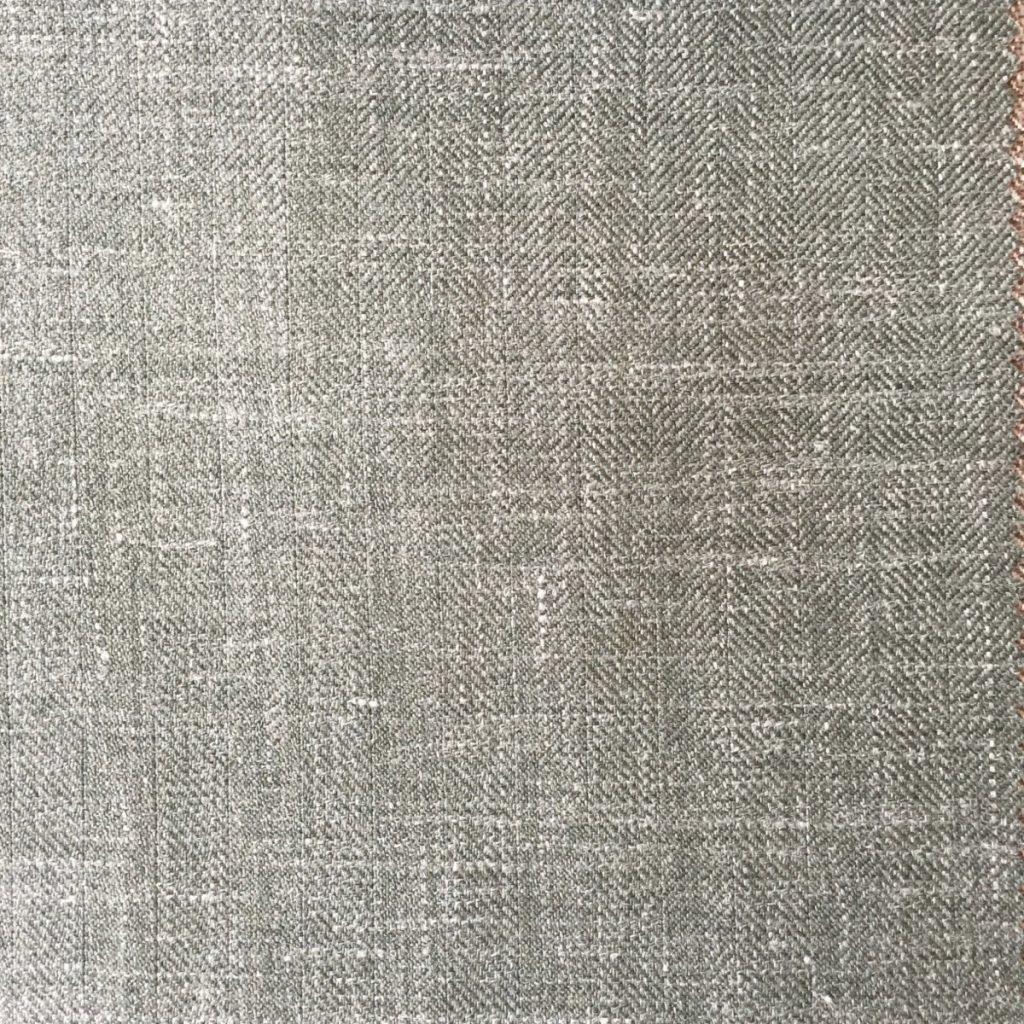 Hochwertige Wolle/Seiden/Leinen Mischung in sommerlichen Olivgrün