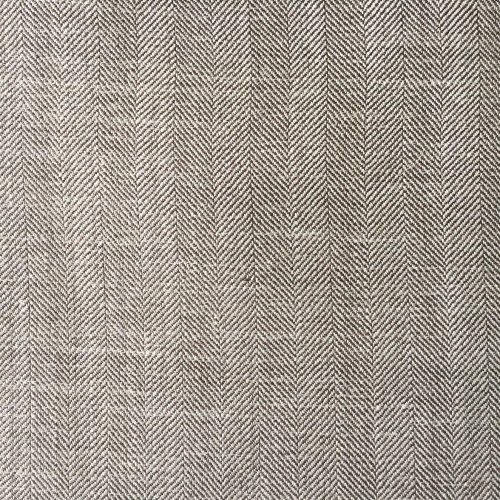 Hochwertige Wolle/Seiden/Leinen Mischung in sommerlichen beigen Fischgrat Dessin